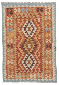 Kilim Afgán Old Style Szőnyeg 106X147 Keleti Kézi Szövésű Sötétpiros/Világosbarna (Gyapjú, Afganisztán)