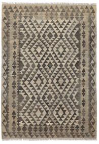 Kilim Afgán Old Style Szőnyeg 121X175 Keleti Kézi Szövésű Sötétbarna/Fekete (Gyapjú, Afganisztán)