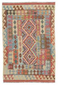 Kilim Afgán Old Style Szőnyeg 100X150 Keleti Kézi Szövésű Sötétbarna/Bézs (Gyapjú, Afganisztán)