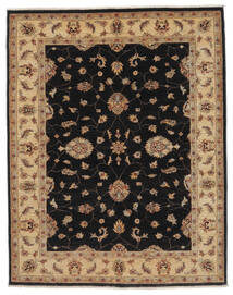 Ziegler Szőnyeg 147X186 Keleti Csomózású Fekete/Barna (Gyapjú, Afganisztán)
