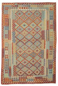 Kilim Afgán Old Style Szőnyeg 200X300 Keleti Kézi Szövésű Sötétbarna/Barna (Gyapjú, Afganisztán)