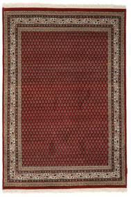 Mir Indiai Szőnyeg 140X205 Keleti Csomózású Fekete/Sötétbarna (Gyapjú, India)